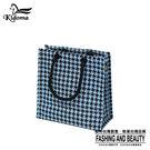 手提袋-編織袋(S)-黑水藍千鳥-03C