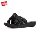 限定優惠價!【FitFlop】BRAID METALLIC LEATHER TOE-THONGS編織扭結設計夾腳涼鞋(黑色)