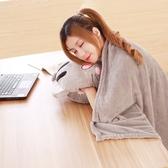 空調被毯子三合一貓咪午睡枕頭汽車抱枕被子兩用珊瑚絨腰靠枕靠墊