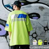 【OBIYUAN】韓風 短袖T恤 反光 文字 寬鬆落肩 短袖衣服 共3色【Y0774】