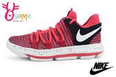 NIKE籃球鞋 童 KD10 Kevin Durant代言 勇士隊 運動鞋N7255#紅◆OSOME奧森童鞋/小朋友