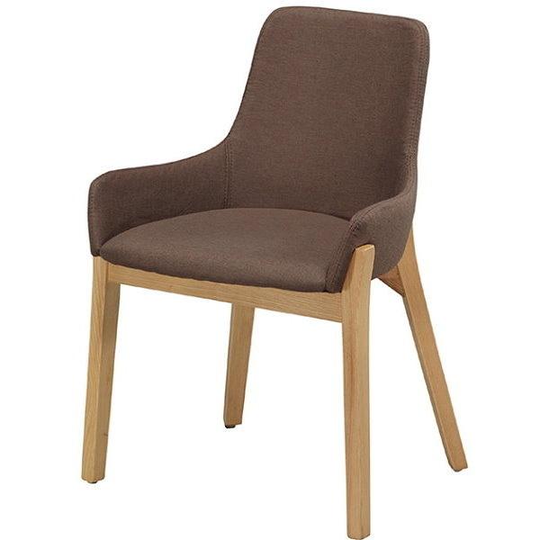 餐椅 CV-761-6 YS-16咖啡布原木腳餐椅【大眾家居舘】