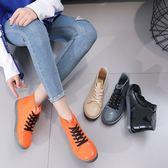 雨靴 時尚女百搭女短筒成人水靴馬丁靴套防滑水鞋 - 歐美韓