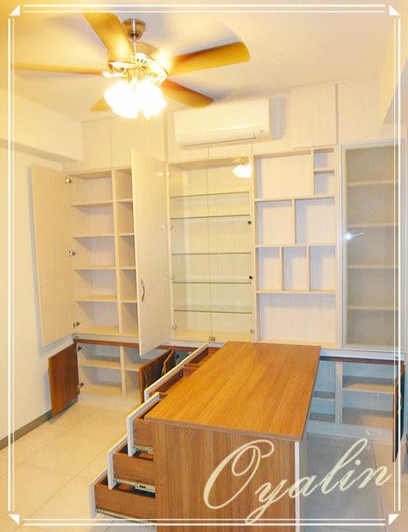 【歐雅系統家具】系統櫃 品味古典~系統書櫃&活動書桌 EGGER E1-V313防潮塑合板 客製化訂做