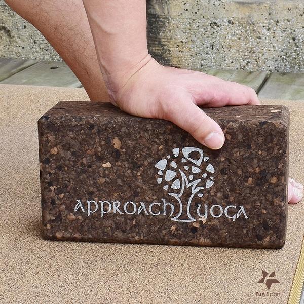 Approach yoga 碳化葡萄牙軟木瑜珈磚-2入-瑜伽磚/Yoga brick/Cork Yoga brick