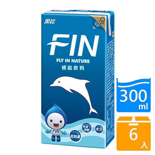 黑松FIN健康補給飲料300MLx6入【愛買】
