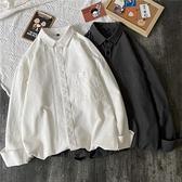 100%純棉白色襯衫女外穿小眾復古港風Chic上衣秋2021年新款襯衣 【快速出貨】 【快速出貨】