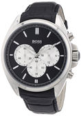 Hugo Boss 英倫紳士系列計時腕錶-黑