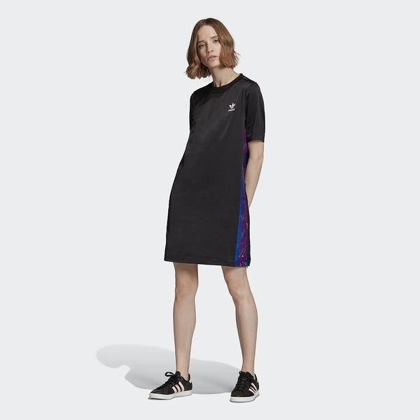 ADIDAS 運動洋裝 ORIGINALS 黑 小LOGO 三線 連身裙 女 (布魯克林) FL0041