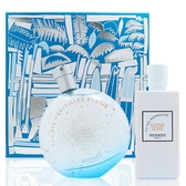 HERMES愛馬仕 橘采星光藍色限定版淡香水禮盒 (100ML香水+80ML身體乳) [QEM-girl]