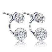 耳環 925純銀鑲鑽銀飾-奢華動人生日情人節禮物女飾品3色73dy183【時尚巴黎】