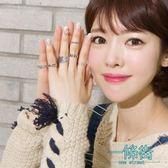 聖誕享好禮 s925純銀戒指日韓潮人學生創意開口簡約個性清新復古寬版食指環女