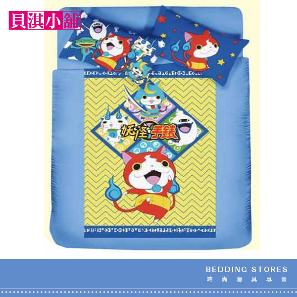 【貝淇小舖】品牌卡通精梳混紡棉 / 武士的慶典 (單人床包+枕套) 二件組