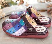 newMODO/洞洞超透氣/兩用款-THE ONE 氣墊鞋(全牛皮)-G10831 紫