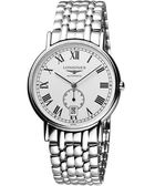 LONGINES 浪琴 Presence 經典小秒針機械腕錶/手錶-銀 L48054116