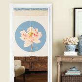 中式傳統風水簾花紋花卉門簾布簾隔斷半簾客廳廚房裝飾掛簾遮光簾