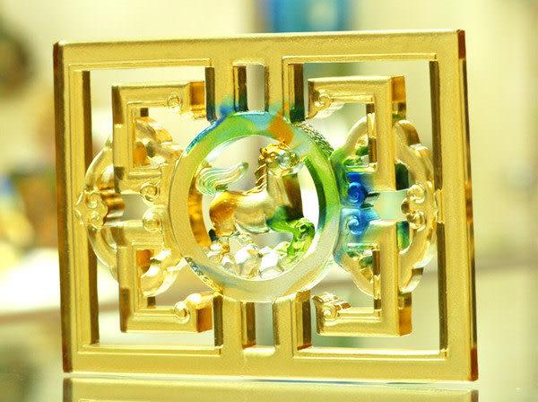 鹿港窯~居家開運琉璃磚【如意綿延透空-馬到成功】附古法製作珍藏保證卡◆免運費送到家