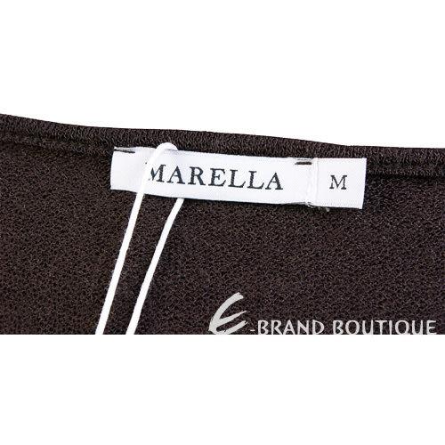 MARELLA 咖啡色不規則設計兩件式上衣 1240286-C7