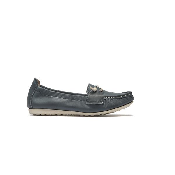 ORWARE-簡約色系綁帶懶人鞋652118-07藍