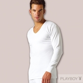 PLAY BOY 2件組台灣製100%時尚純棉毛U領長袖衫