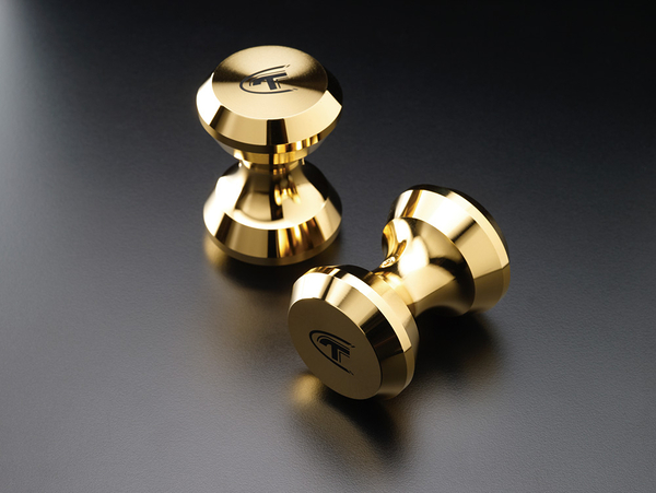 《名展影音》黃金般光澤的高貴氣息! 金系列 Telos Cable Towers銅鍍金架線器 / 個