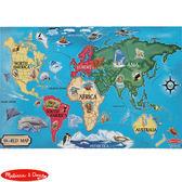 【華森葳兒童教玩具】科學教具系列-Melissa&Doug 地板拼圖-世界地圖 N7-446