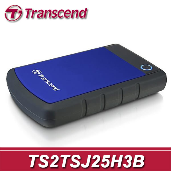 【免運費】Transcend 創見 StoreJet 25H3B 2TB USB3.0 軍規級 防震行動硬碟 (TS2TSJ25H3B) 2T SJ25H3B