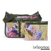 LeSportsac - Standard雙口袋A4大書包-附化妝包 (棕櫚海灘) 7507P F186