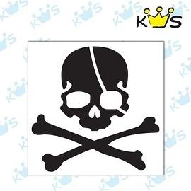 【收藏天地】防水防曬*安全帽 汽機車 萬用貼-海盜小骷髏頭(2色)