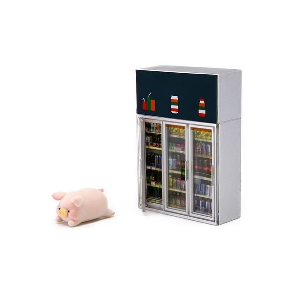 《 Tiny 》7-Eleven X Lulu豬 - 2C 迷你飲品櫃xLuLu / JOYBUS玩具百貨