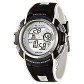 JAGA 捷卡 時尚 休閒 運動 多功能 冷光照明 電子錶 男錶 學生錶 軍錶 日期 計時碼表 M688-AD黑白