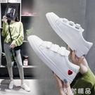 爆款秋款小白鞋女秋季新款百搭魔術貼學生韓版平底休閒板鞋潮