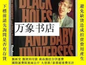 二手書博民逛書店Hawking罕見霍金 : Black Holes And Baby Universes 原版精裝本帶封套 一版一