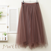 雙面穿緞面壓褶裙 9J1034 (3色)