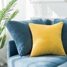 抱枕 北歐簡約辦公室抱枕正方形絨抱枕套腰枕客廳靠墊枕墊沙發
