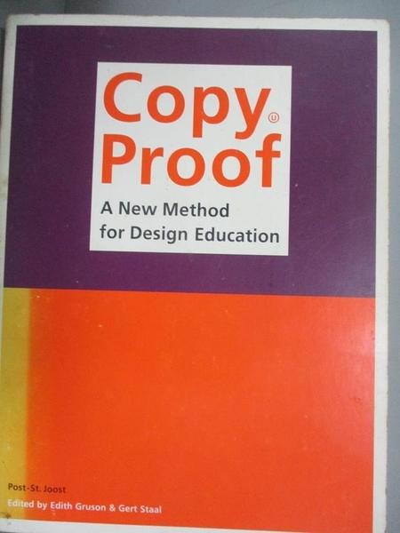【書寶二手書T4/廣告_EVQ】Copy Proof_Edith Gruson, Gert Staal, Academie St. Joost