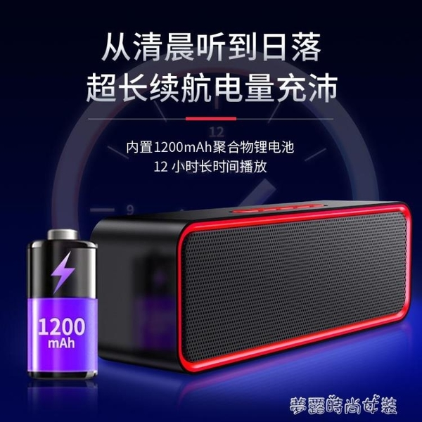 無線藍芽音箱低音炮手機小音響雙喇叭大音量便攜式迷你小型『夢露時尚女裝』