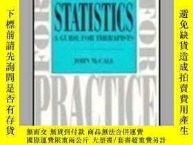 二手書博民逛書店Statistics:罕見A Guide For Therapists 1e (skills For Practi