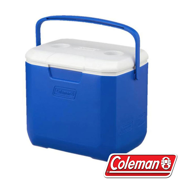 【美國Coleman】28L EXCURSION 海洋藍冰箱 CM-27861 行動冰箱 冰桶 保冷 保溫 露營 攜帶方便
