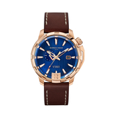 Giorgio Fedon 喬治菲登1919  TIMELESS VIII永恆系列運動版機械錶 GFCI006 藍x玫瑰金