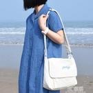 POY斜背包包女帆布包挎包袋日系ins新款年夏天網紅新品單肩包 3C優購