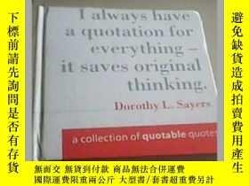 二手書博民逛書店*罕見A Collection of Quotable Quotes(英文原版名人名言集) LJY3442 S