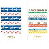 日本 KITTA 攜帶型和紙膠帶/Slim系列-圖騰花案【HITOTOKI 文房具】