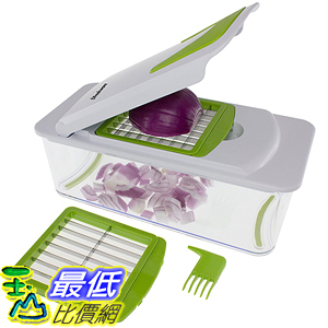 [美國直購] Freshware KT-406 蔬菜切丁刨絲器 7-in-1 Onion Chopper, Vegetable Slicer Fruit Cheese Cutter