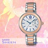 CASIO 卡西歐 SHEEN手錶專賣店 SHE-3050SG-7A 女錶 不鏽鋼錶帶   防水  粉紅金色離子