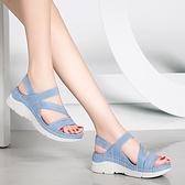 2021年新款足意爾康厚底涼鞋女平底超輕便夏季鬆糕底時尚運動女鞋 艾瑞斯居家生活「快速出貨」