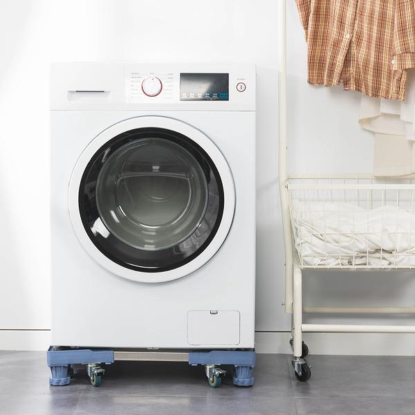樂嫚妮 可伸縮調節洗衣機台座托架-八腳柱附輪款-耐重300kg