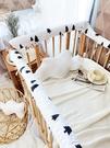 嬰兒床全棉防啃咬條防撞套兒童拼接床護欄寶寶bb床圍床上用品套件 露露日記