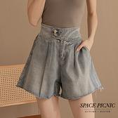 短褲 Space Picnic 雙釦牛仔短褲-1色(預購)【C21102029】