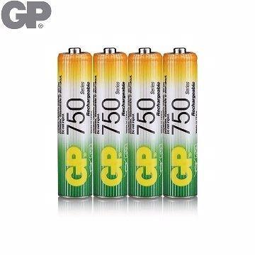 {光華成功NO.1}GP低自放鎳氫充電池4號750mAh (4入) (BAT-GPB-750AAA-C4)  喔!看呢來